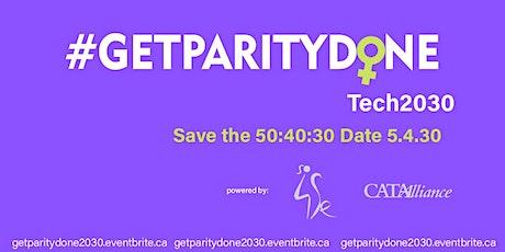 GetParityDone Tech2030 tickets