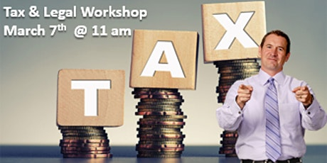 TAX & LEGAL STRATEGIES WORKSHOP tickets