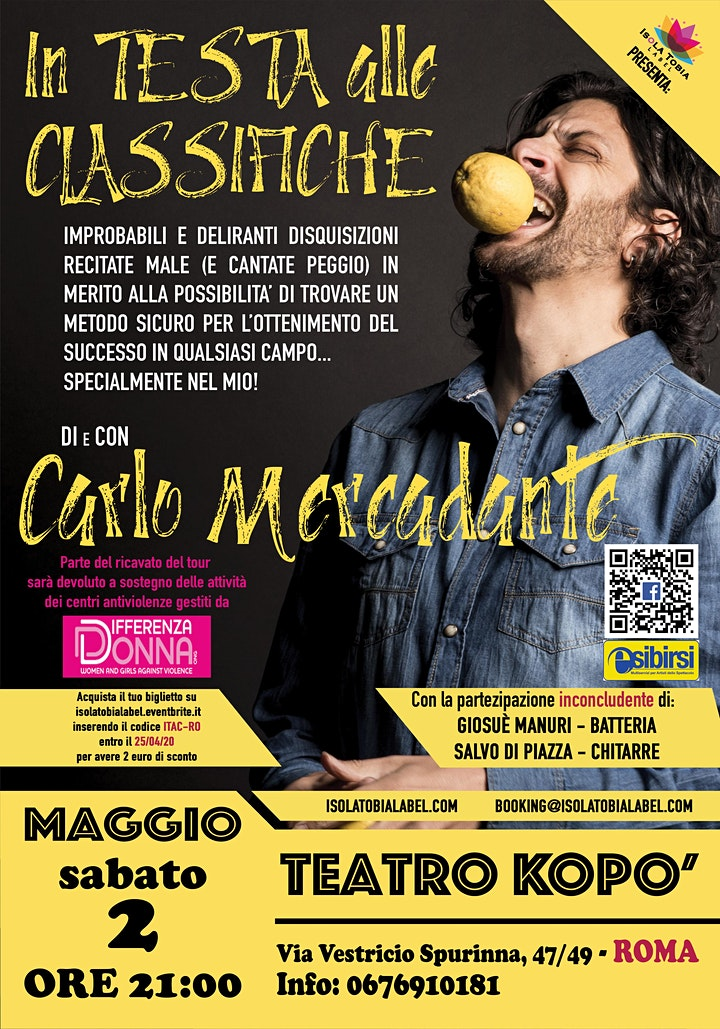 """Immagine Carlo Mercadante - """"In testa alle classifiche"""". Il tour"""