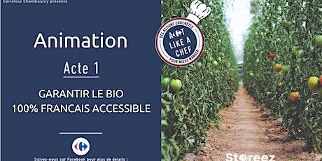 Cours de cuisine Gratuit  - Garantir le Bio 100% Français accessible billets