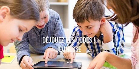 Semaine de relâche : DÉJOUEZ LES CODES JEUNESSE ! (8-12 ans) billets