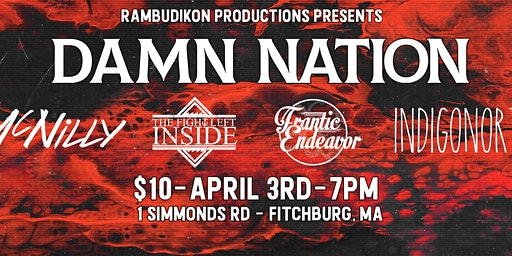 Damn Nation - Indigo North - Frantic Endeavor - TFLI - McNilly