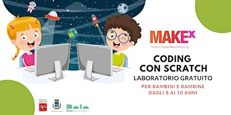 Coding con Scratch. Laboratorio gratuito per bambini a cura di MakeX biglietti