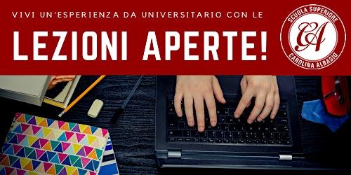 Lezioni aperte alla Scuola Superiore Carolina Albasio