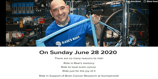 3rd Annual Rael's Ride - a cycling event to support brain cancer research