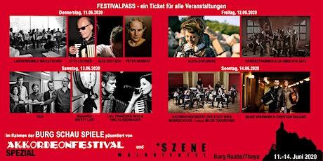 AKKORDEONFESTIVAL SPEZIAL Festivalpass 11.6. bis 14.6.2020 Tickets