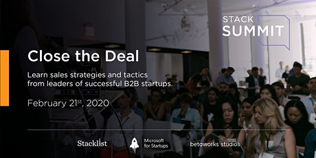 StackSummit: Close the Deal tickets