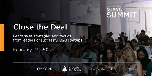 StackSummit: Close the Deal