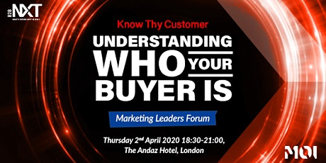 B2BNXT - Understanding Who Your Buyer Is - For Client Side Tech  Marketers tickets