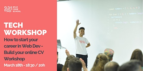 Tech Event - How to start your career in Web Dev - Build your online CV tickets