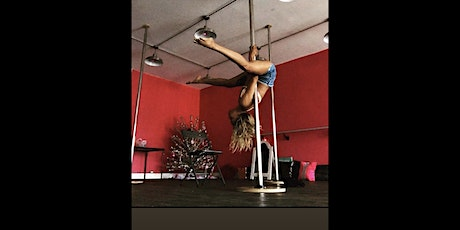 Whiskey Wiccan holds dolls who pole! platforms & pole grips  tickets