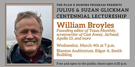 Glickman Lectureship featuring William Broyles tickets