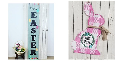 Spring Porch Sign and door decor Ladies Night