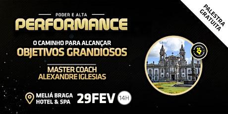 Palestra PODER E ALTA PERFORMANCE | Pessoal e Profissional bilhetes