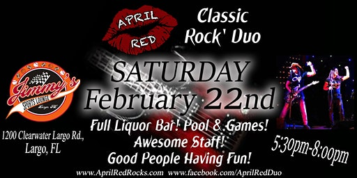 April Red is Back to ROCK Jimmy's Sports Lounge in Largo!