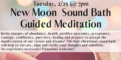 New Moon Sound Bath Meditation tickets