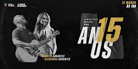 Aniversário CBV | Rodolfo e Alexandra Abrantes ingressos