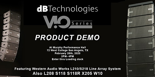dB Technologies/Western Audio  Works VIO System Speaker Demo