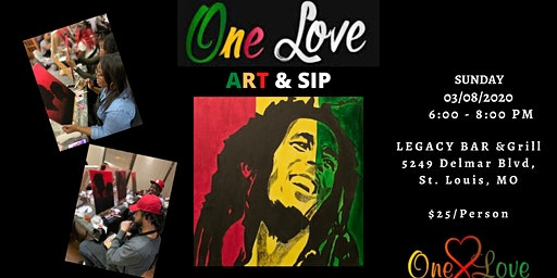 """One Love"" Art & Sip"