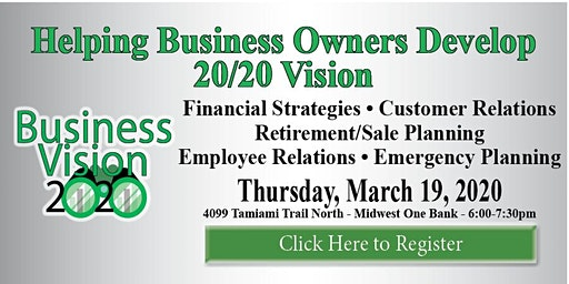 Helping Business Owners Develop 20/20 Vision