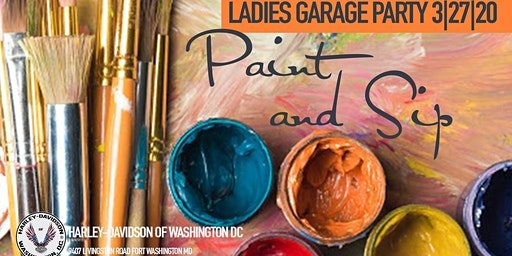 Paint and Sip with Part-Time Picasso at Harley-Davidson