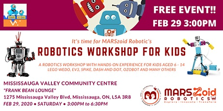 Robotics Workshop (FREE) by MARSzoid Robotics! tickets