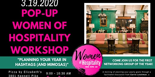 Pop-Up Women of Hospitality Workshop: Your Year in Hashtags (and Mimosas)