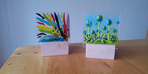 Fused Glass Candle Panels