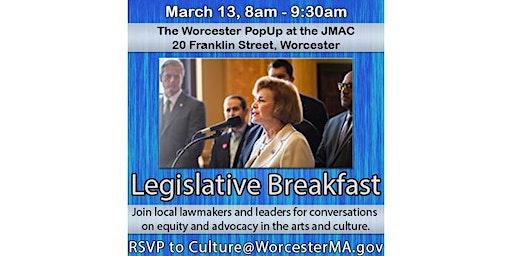 Worcester Cultural Coalition Legislative Breakfast 2020