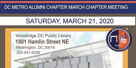 DCMAC  March Chapter Meeting tickets