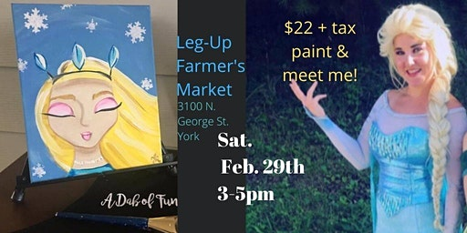 Paint & Meet The Ice Princess!
