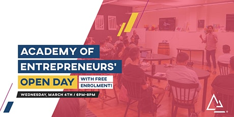 Academy of Entrepreneurs' Open Day (March 2020) tickets
