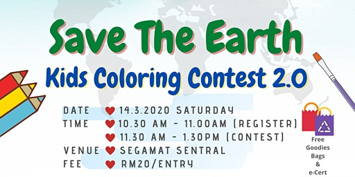 "Kids Coloring Contest 2.0 ""Save The Earth"""