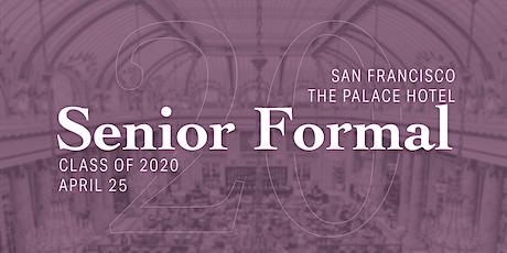 Senior Formal 2020 tickets