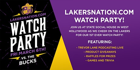 Lakers Nation Watch Party vs. Bucks tickets