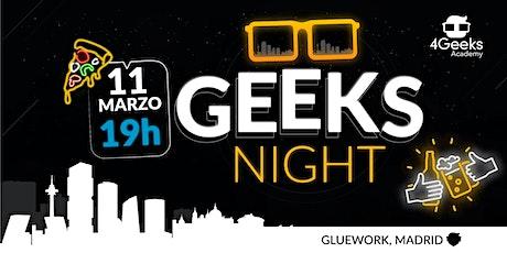 Geeks Night: ¡Aprende programación con gente guay! (evento gratuito) entradas
