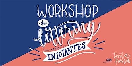 Workshop de Lettering para Iniciantes com @tintafresca_ ingressos