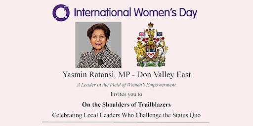Celebrating International Women's Day: On the Shoulders of Trailblazers