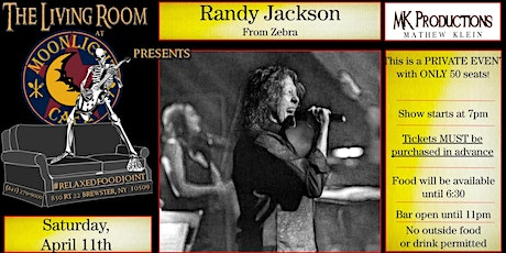 Randy Jackson of ZEBRA (intimate performance - 50 seats ONLY) tickets