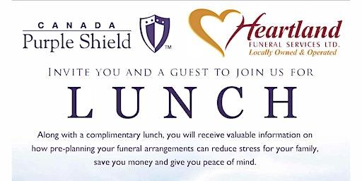 Canada Purple Shield & Heartland Funeral Services Pre-need Seminar Lunch