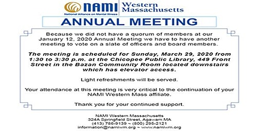 NAMI Western Massachusetts Annual Meeting