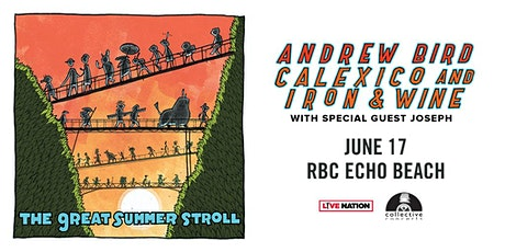 Andrew Bird and Calexico and Iron & Wine: The Great Summer Stroll tickets