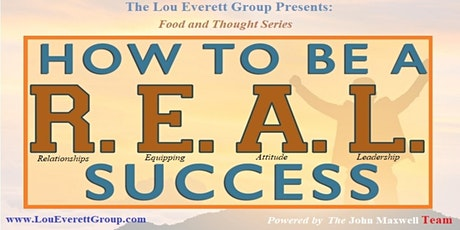 Food and Thought Series: How to be a R.E.A.L. Success tickets