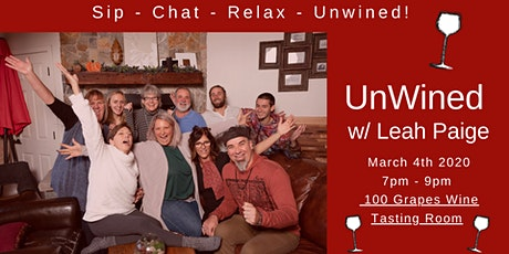 UnWined! Sip, Chat & Relax with Leah Paige tickets