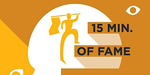 15 MINUTES OF FAME  | OPEN COFFEE DEN BOSCH