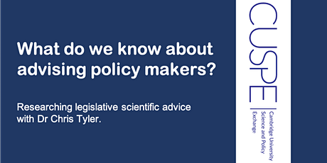 What do we know about advising policy makers? tickets