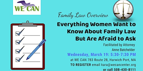 Family Law Overview: What Women Need to Know tickets