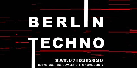 ⭑ Berlin Techno ⭑ This is Real Techno ⭑ 10 ACTS ⭑ 2 Floors⭑ tickets