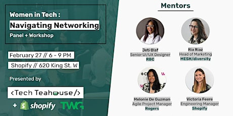 Women in Tech - Navigating Networking tickets