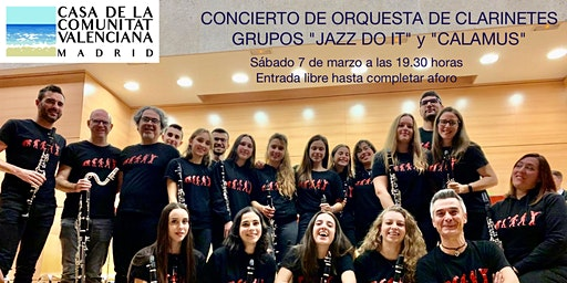 "Orquesta de clarinetes || Grupos ""Jazz Do It"" y ""Calamus"""